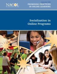 Socialization in Online Programs - K12HSN