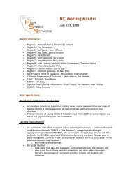 NIC Meeting Minutes - California K-12 High Speed Network