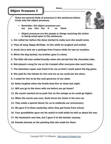 Pronouns And Antecedents Worksheet. Worksheets. Releaseboard Free ...