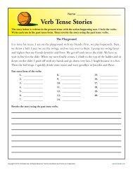 Verb Tense Story Worksheet | Grammar Worksheets from K12reader ...