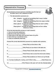 Demonstrative Pronouns   Pronoun Worksheets - Pea.ucr.ac.cr