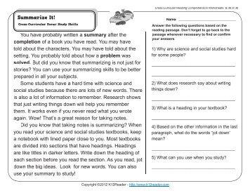 2nd grade comprehension passages pdf