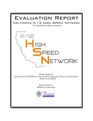 Evaluation Report 2009 - California K-12 High Speed Network