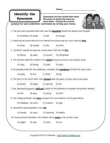 Molarity And Molality Worksheet Word Identify The Homographs  Homograph Worksheets Customary Units Worksheet Word with America The Story Of Us Bust Worksheet Word Identify The Synonyms  Synonym Worksheets Kindergarten Nouns Worksheets
