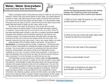 Printables Cross-curricular Reading Comprehension Worksheets cross curricular reading comprehension worksheets e 27 of 36 23 36