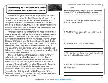 Printables Cross-curricular Reading Comprehension Worksheets cross curricular reading comprehension worksheets c 22 of 36 8 36