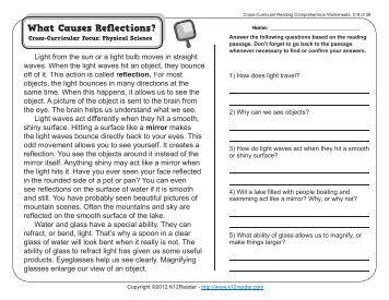 Printables Cross-curricular Reading Comprehension Worksheets cross curricular reading comprehension worksheets b 18 worksheets