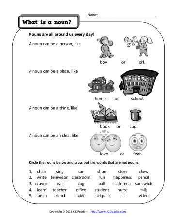 Single And Double Replacement Reactions Worksheet Answers Nouns Used As Direct Objects  Noun Worksheets Phoneme Blending Worksheets Word with Be Verbs Worksheet What Are Nouns  Noun Worksheets  Kreadercom Multiply By 10 And 100 Worksheet Word