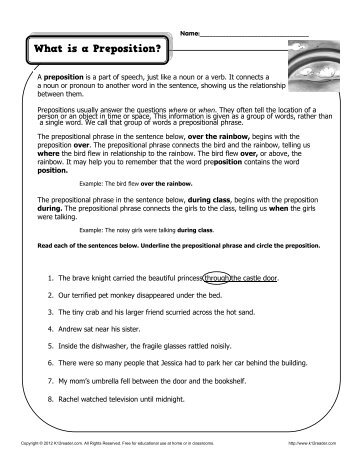 preposition worksheets for middle school answers preposition best free printable worksheets. Black Bedroom Furniture Sets. Home Design Ideas