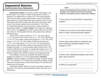 Cross-Curricular Reading Comprehension Worksheets: C-23 of