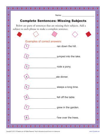 Writing Complex Sentences | Sentence Structure Worksheets