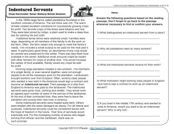 Cross-Curricular Reading Comprehension Worksheets: D-1 of 36