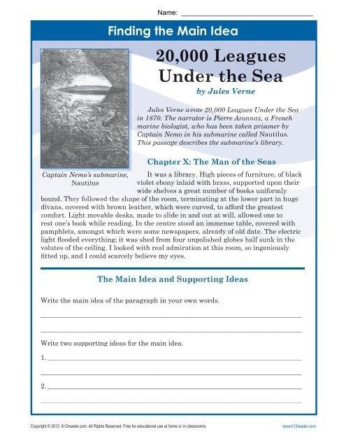 words to describe under the sea