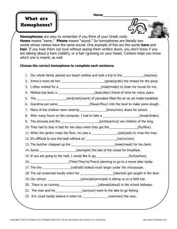 ... worksheets k12reader com correct the homophones homophone worksheets
