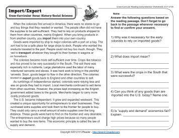 Worksheet Cross-curricular Reading Comprehension Worksheets cross curricular reading comprehension worksheets jpgquality80 worksheets