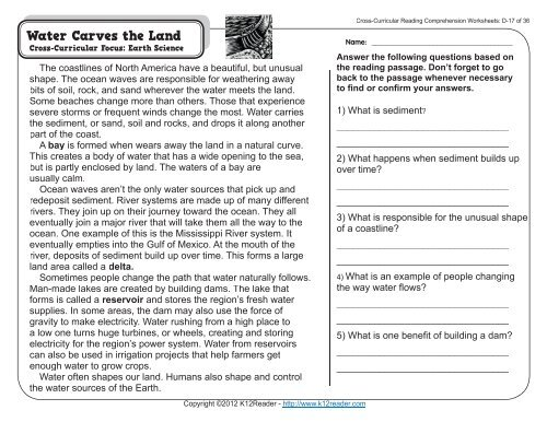4th Grade Reading Comprehension Worksheets Fourth Grade