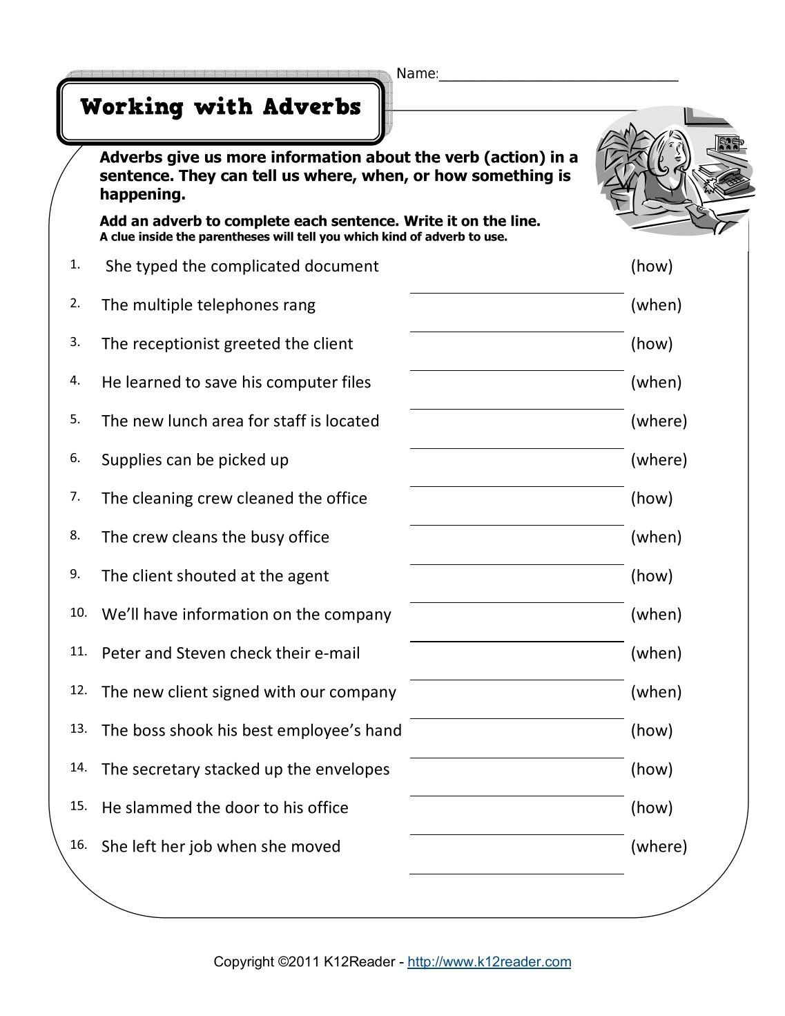 Worksheets Adverb Worksheets 5th Grade worksheets adverb 5th grade citysalvageanddesign free adverbs printable 100 for grade