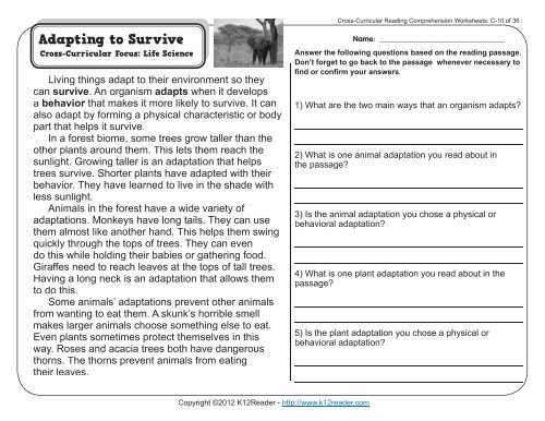 3rd Grade Reading Comprehension Worksheets Third Grade