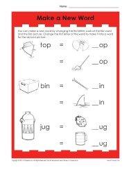 Make a New Word | Phonics Worksheets