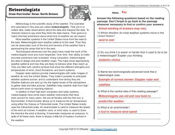 Cross-Curricular Reading Comprehension Worksheets: C-30 of 36