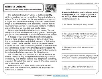 Cross curricular reading comprehension worksheets d 18 of 36