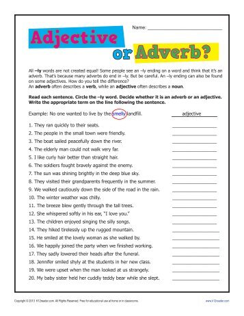 Worksheets Adverb Worksheets 5th Grade adverb worksheets 6th grade bloggakuten collection of bloggakuten