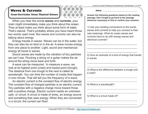 3rd Grade Reading Comprehension Worksheets | Third Grade ...