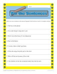 Run On Sentence and Fragments | Sentence Structure Worksheets