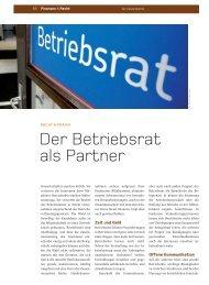 Der Betriebsrat als Partner - Pflüger Rechtsanwälte GmbH