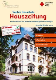 Sophie Henschels Hauszeitung Informationen aus dem ...