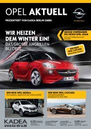 Opel aktuell - KADEA Berlin GmbH