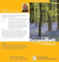 Gesundheit - Katholische Akademie Stapelfeld