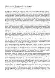 Glaube an Gott – Engagement für Gerechtigkeit - Kab-Freiburg