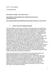 Download Referat Prof. Dr. Franz Segbers - KAB DV Fulda
