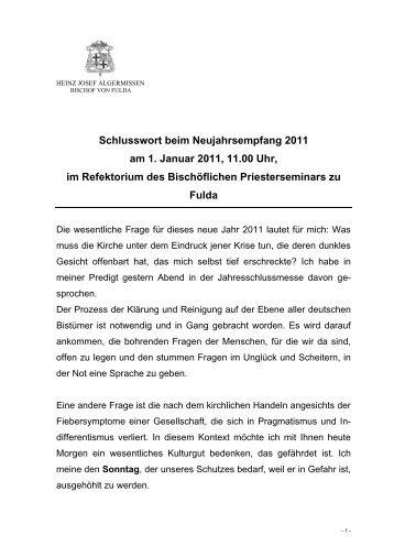 Die Ansprache von Bischof Heinz Josef ... - KAB DV Fulda