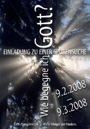 Pfarrbrief Spurensuche 2008 laden - Die Pfarrei St.Maria - Königin ...