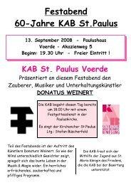 Festabend 60-Jahre KAB St.Paulus - KAB Voerde