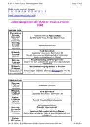 Jahresprogramm der KAB St. Paulus Voerde 2004 - KAB Voerde