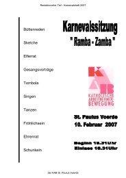 KAB St Paulus Karnevalsheft 2007 - KAB Voerde