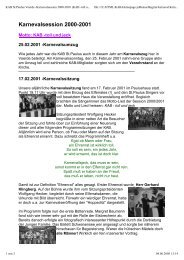 Karnevalsession 2000-2001 - KAB Voerde