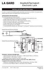 Deadbolt/Springbolt Electronic Lock - Kaba Mauer GmbH