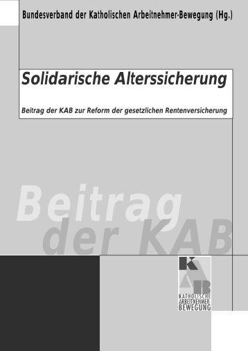 Solidarische Alterssicherung - KAB DV Fulda