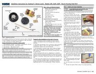 Installation Instructions for Auditcon® 2 Series Locks ... - Kaba