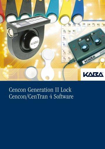 Cencon Generation II Lock Cencon/CenTran 4 Software