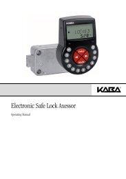 Electronic Safe Lock Axessor - Kaba Mauer GmbH