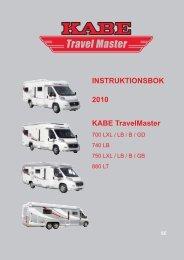 Travel Master 700, 740, 750, 880 - Kabe