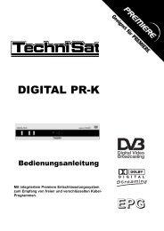 Bedienungsanleitung Technisat Digital PR K - Kabel BW