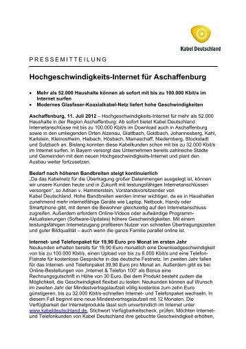 Calbe bekommt Hochgeschwindigkeits-Internet - Kabel Deutschland