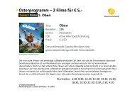 Osterprogramm – 2 Filme für € 5,- 1 - Kabel Deutschland
