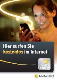 Hier surfen Sie kostenlos im Internet - Kabel Deutschland